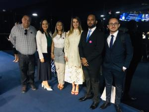 """Daniella Ribeiro recebe, em Brasília, primeiro grupo do projeto """"Você no Senado"""""""