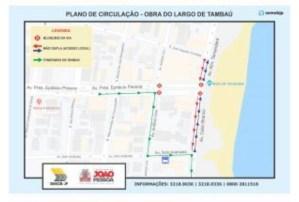 Trecho final da Av. Epitácio Pessoa será bloqueado para início das obras do Largo de Tambaú