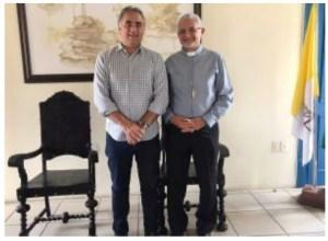 Luciano Cartaxo e arcebispo da Paraíba discutem parcerias e desenvolvimento de projetos para o Centro Histórico e Cultural São Francisco