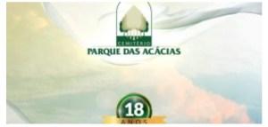 FINADOS: Programação marca 18 anos de atuação do Parque das Acácias. Missas, culto e palestra acontecem durante o dia