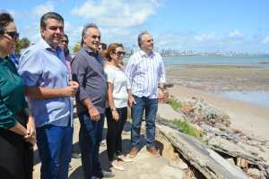 Luciano Cartaxo autoriza nova etapa e Prefeitura de João Pessoa acelera obras de proteção da Barreira do Cabo Branco
