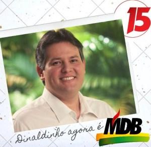 Dinaldinho Wanderley se filia ao MDB e vai comandar o partido em Patos