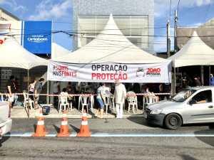 Operação Proteção da Prefeitura de João Pessoa realiza 330 testes de Covid-19 e 55 atestam positivo, durante segundo dia da ação em Mangabeira