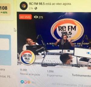 Prefeito de Pedras de Fogo, Dedé Romão, dá entrevista a rádio local e bate Record de audiência