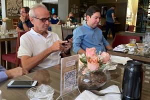 BASTIDORES: Antes de anúncio do Avante, Cícero toma café da manha com Felipe Leitão