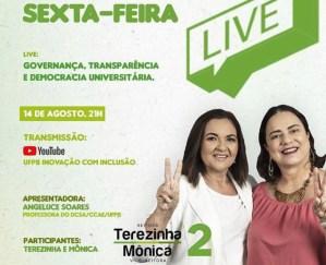 """NO YOUTUBE  -Chapa """"Inovação com Inclusão"""" realiza live para debater governança, transparência e democracia universitária"""