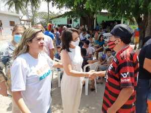 Ao lado de Raíssa Lacerda, Edilma Freire defende fortalecimento dos bairros e comunidades