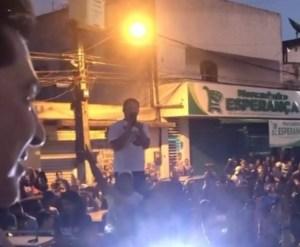 Manoel Junior inicia campanha com multidão nas ruas de Pedras de Fogo