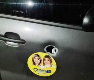 VEJA: carro da deputada e candidata a vice-prefeita Edna Henrique é alvejado a tiros em Monteiro