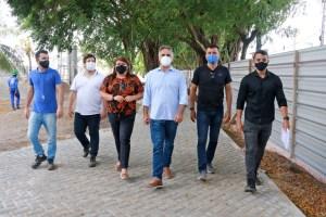 Cartaxo visita obras do Parque das Águas em Mangabeira e assegura mais uma opção de lazer