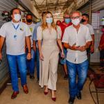 Daniella Ribeiro comemora anúncio de agência da Caixa no Valentina