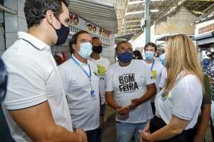 Daniella Ribeiro cumpre agenda com presidente da Caixa em João Pessoa e Campina Grande