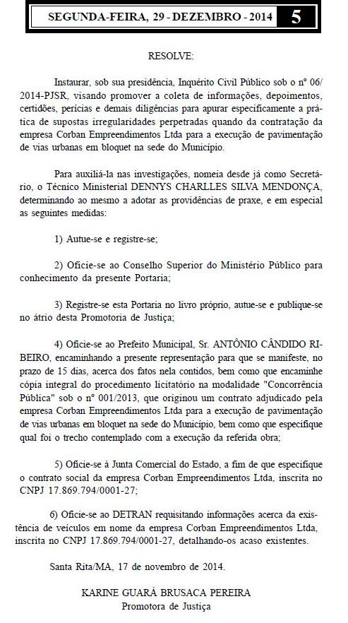 Corrupção em Santa Rita já está sendo investigada pelo MP