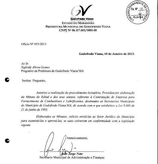 Autorização para assaltar os cofres foi assinada no dia 01/01/2013.