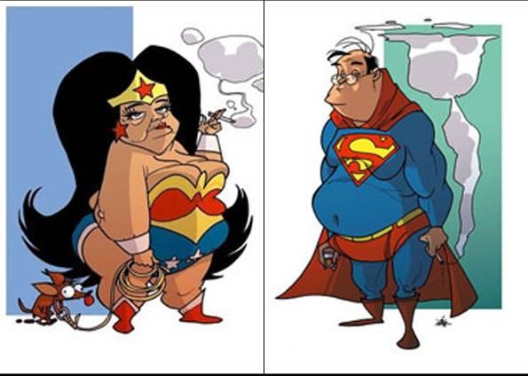 superman-charge Os Tipos de Velhos