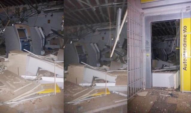 Banco do Brasil ficou completamente destruído - Fotos: Blog Riacho bem informado