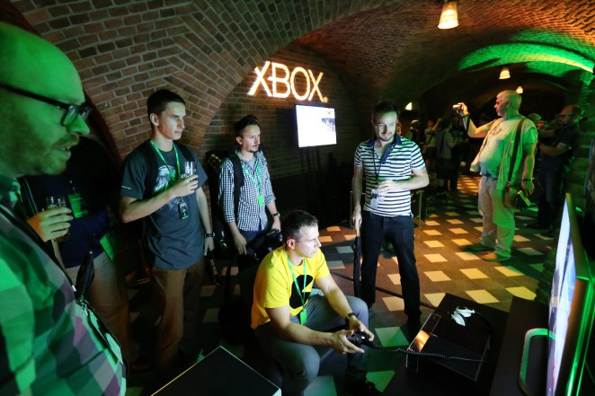 Gamers have the ultimate Xbox gamescom experience while interacting with newly announced games at the Xbox Showcase in Cologne, Germany on Tuesday, 4 August 2015. (Photo by Juergen Schwarz for Microsoft)