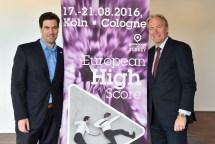 Pressekonferenz gamescom 2016, v.l.n.r.: Dr. Maximilian Schenk, Geschäftsführer des BIU, Gerald Böse, Vorsitzender der Geschäftsführung der Koelnmesse, The View, Kennedy- Ufer