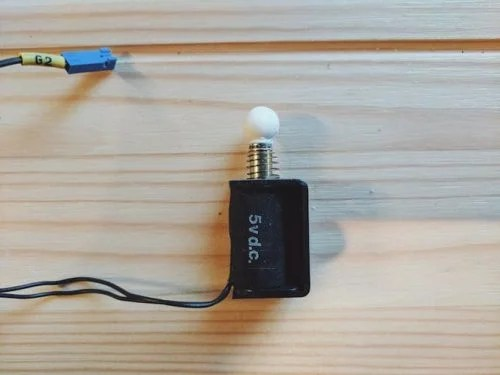 One of the solenoids of Joe Birch's BrailleBox