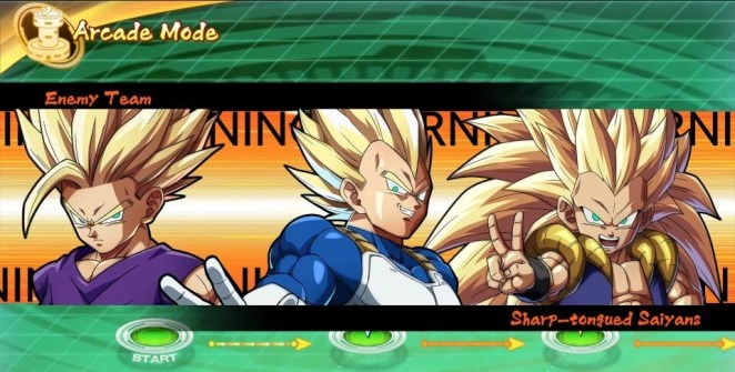 Dragonball FighterZ Arcade Mode Screenshot
