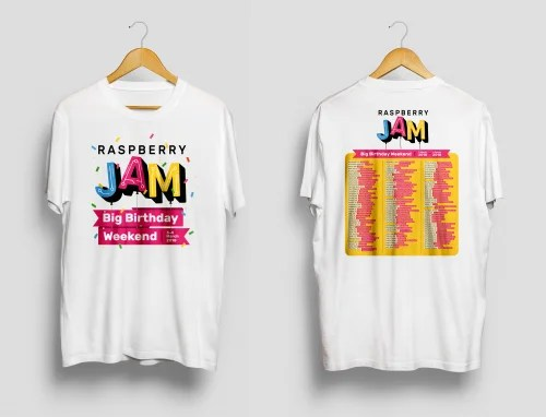 Raspberry Jam Big Birthday Weekend 2018 T-shirt