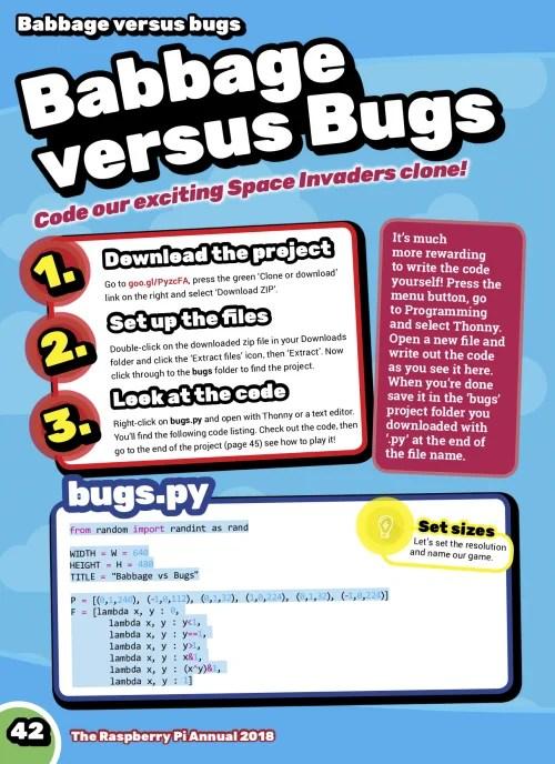 babbage versus bugs Raspberry Pi annual