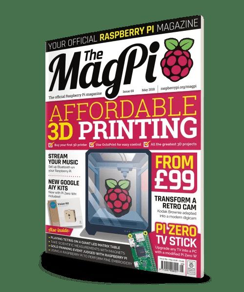Raspberry Pi MagPi 69 3D-printing