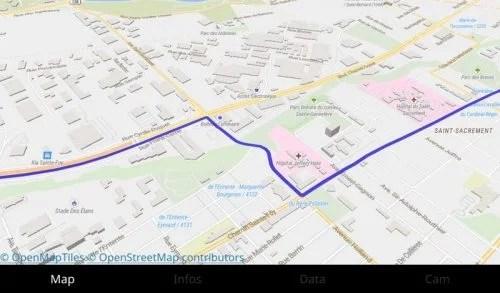 street map display