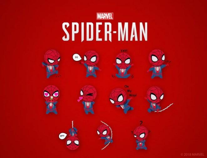 Marvel's Spider-Man: iOS Sticker Pack