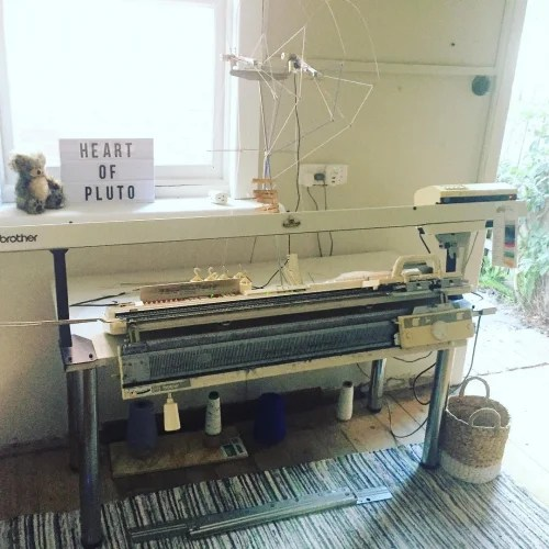 Sarah Spencer Networked knitting machine