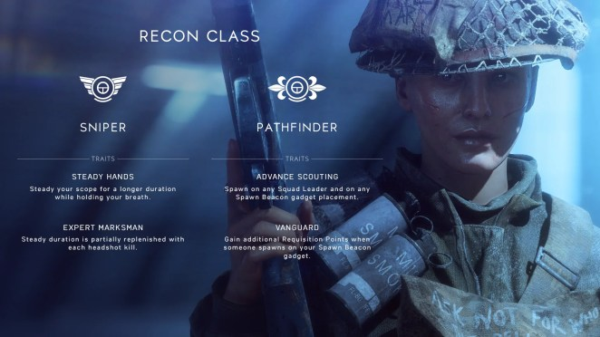 Battlefield V Recon Soldier Roles