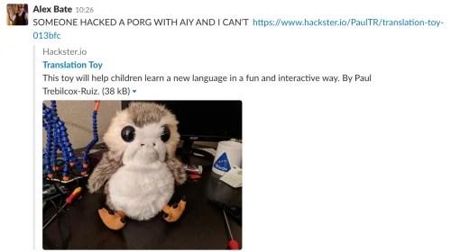 Star Wars Porg Raspberry Pi Google AIY Projects Kit translator