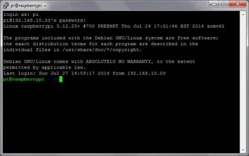 SSH in terminal
