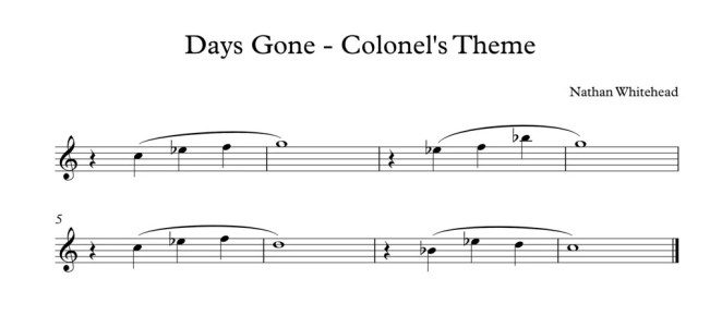 Days Gone - Colonel's Theme