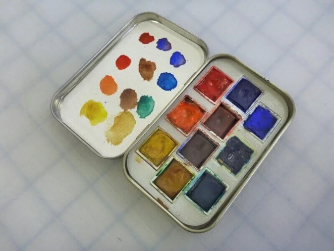 watercolor palette altoids tin