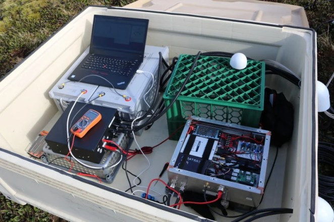 The full test kit checks interference at specific locations