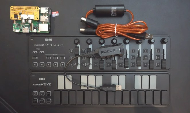 The components of a virtual analogue Raspberry Pu synthesiser