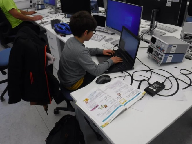 While some go there to build physical projects, others learn to code