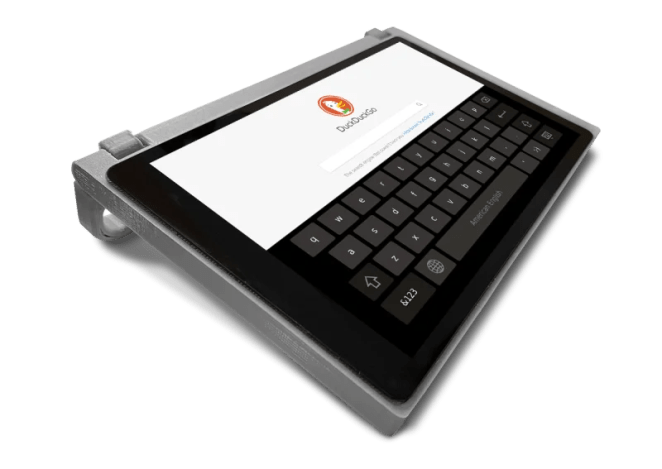 The CutiePi tablet has a Chromium-based web browser and supports all the common touch gestures