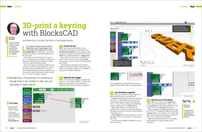 3D-print a keyring with BlocksCAD