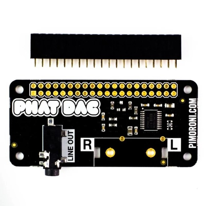pHAT DAC materially improves audio on your Raspberry Pi