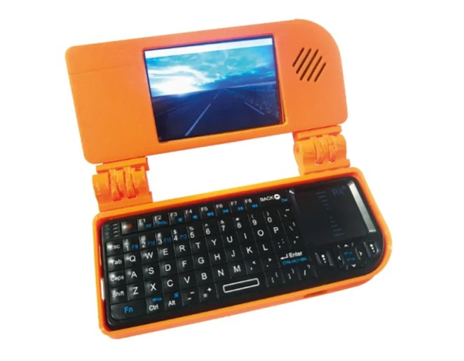 By turning your Raspberry Pi into a tiny laptop you can take it out and aboutou