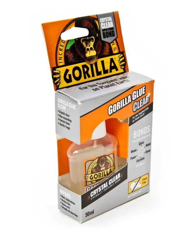 Ideal for sticking together 3D parts - or almost anything else - Gorilla Glue is easier to apply than superglue because it comes with an applicator brush