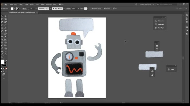 The process of animation begins, after the pieces are cut out digitally using photo editingsoftware
