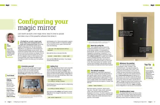 Configuring your magic mirror