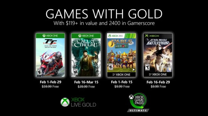 Games with Gold - February 2020