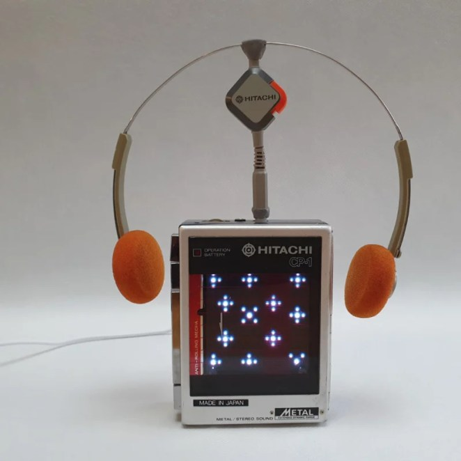 The early 1980s-style ambient IoT weather display has a current conditions animation
