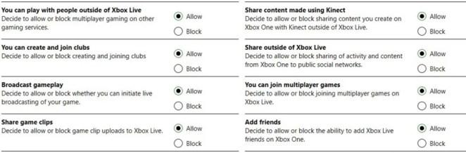 Liste unterschiedlicher Jugendschutz-Einstellungen auf Xbox One, die man in Zeiten von COVID-19 anpassen kann, um Gaming sicher zu gestalten.