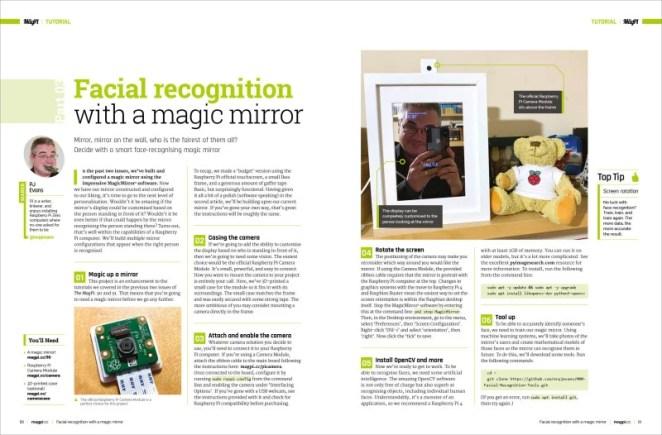 Magic Mirror facial recognition