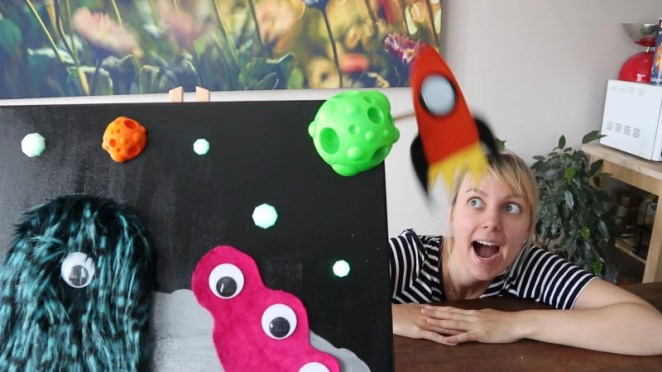 This painting is both interactive and has space monsters, so it's definitely the greatest.